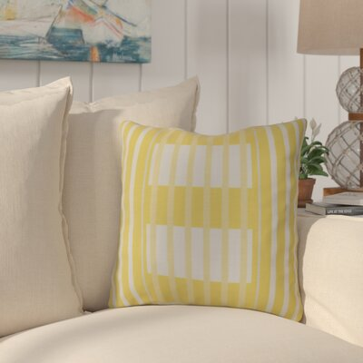 Bartow Beach Blanket Throw Pillow Size: 16 H x 16 W x 3 D, Color: Yellow