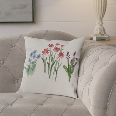 Laymon Flower Throw Pillow Color: Light Blue, Size: 26 x 26