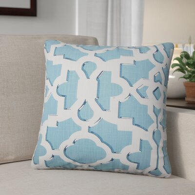 Freeburg Geometric Cotton Throw Pillow Color: Sky