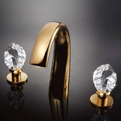 Swarovski Crystal Widespread Double Handle Bathroom Faucet Finish: Gold