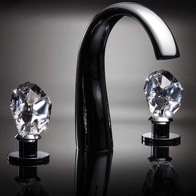 Swarovski Crystal Widespread Double Handle Bathroom Faucet Finish: Chrome