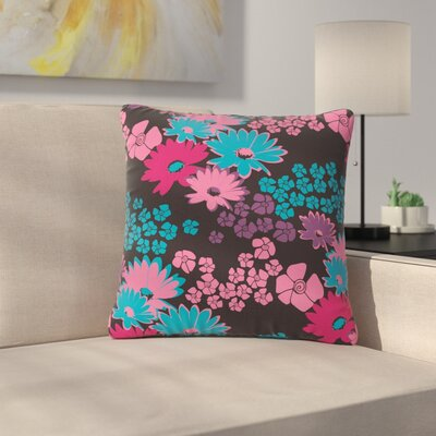Zara Martina Mansen Berry Color Bouquet Outdoor Throw Pillow Size: 18 H x 18 W x 5 D