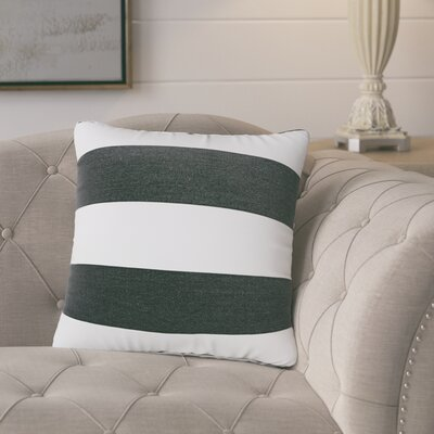 Manalapan Stripe Indoor/Outdoor Throw Pillow Size: 18