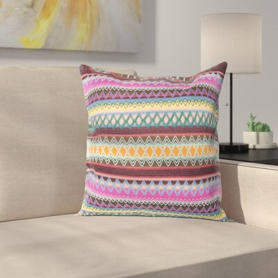 Aurelia Burst Throw Pillow Size: 18, Color: Chocolate Burst