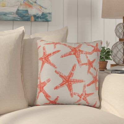 Begonia Coastal Cotton Throw Pillow Color: Red
