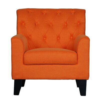Ebron Transitional Armchair Upholstery: Orange