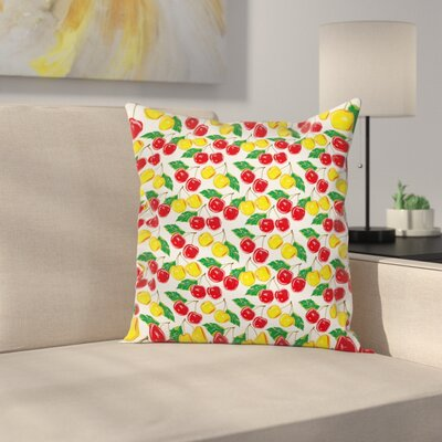 Fruit Pillow Cover Size: 18 x 18