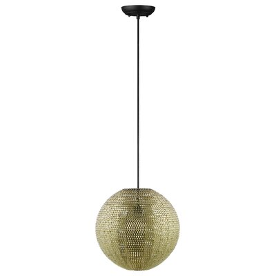 Nowell 1-Light Globe Pendant Finish: Gold