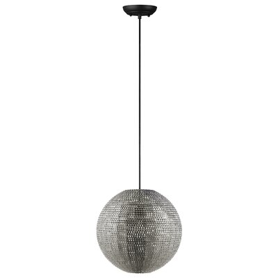 Nowell 1-Light Globe Pendant Finish: Nickel