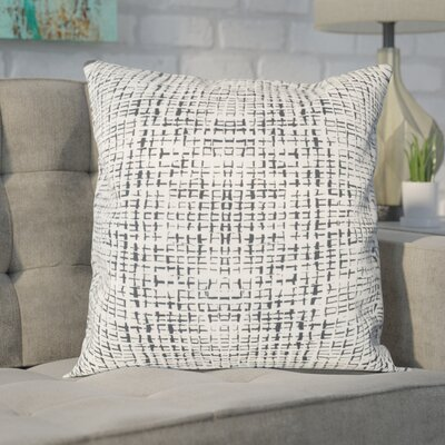 Zurcher Abstract Grid Large Throw Pillow Size: 20 H x 20 W