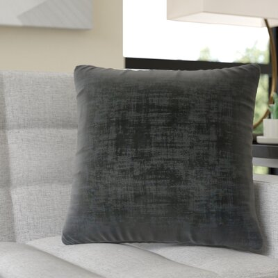 Aylor Square Throw Pillow Color: Black