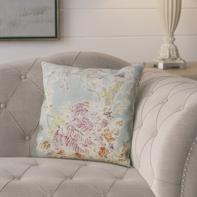Ilana Throw Pillow Color: Seaglass, Size: 18x18