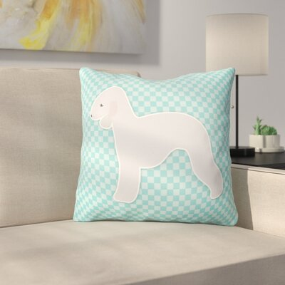 Bedlington Terrier Square Indoor/Outdoor Throw Pillow Size: 14 H x 14 W x 3 D, Color: Blue