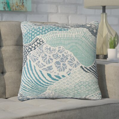 Bevers Ikat Cotton Throw Pillow Color: Blue
