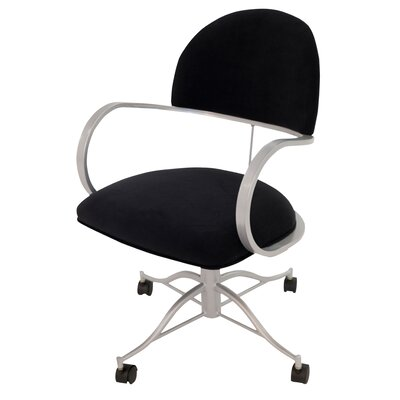 Ortiz Caster Leather Guest Chair