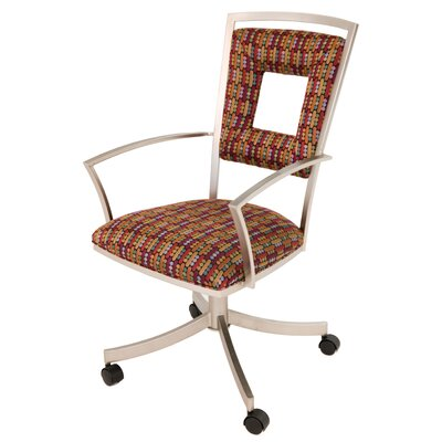 Leist Caster Leather Guest Chair