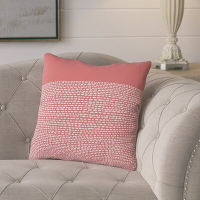 Buckland Throw Pillow Size: 18 H x 18 W x 5 D, Color: Cayenne