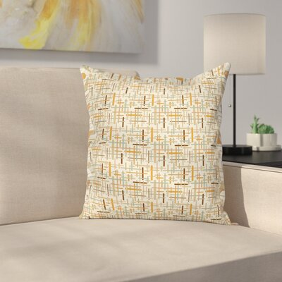 Roundedful Lines Square Pillow Cover Size: 16 x 16