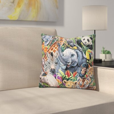 Jungle Babies Throw Pillow