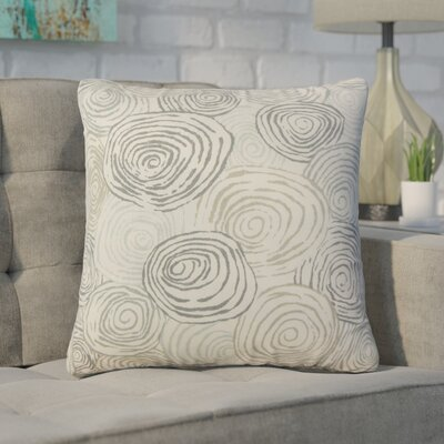 Zeus Graphic Linen Throw Pillow Color: Gray