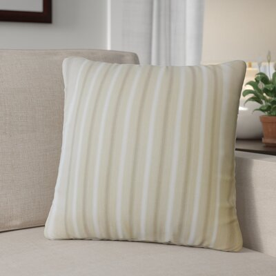 Camela Striped Down Filled 100% Cotton Throw Pillow Size: 20 x 20, Color: Natural