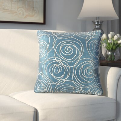 Creekmore Silk Throw Pillow (Set of 2) Color: Blue/Green