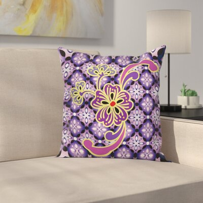 Flower Petals Floral Square Pillow Cover Size: 24 x 24