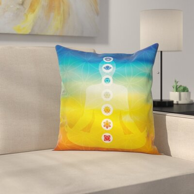 Yoga Body Silhouette Pillow Cover Size: 16 x 16