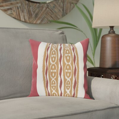 Arlington Stripe Throw Pillow Size: 18 H x 18 W, Color: Rust/Brown