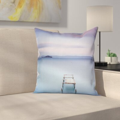 Landscape Square Pillow Cover with Zipper Size: 18 x 18