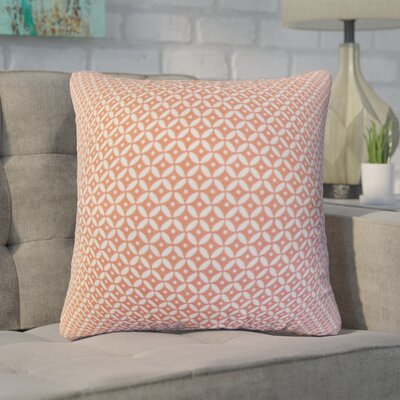 Zephyranthe Geometric Cotton Throw Pillow Color: Blush