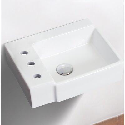 Ceramic 16.25 Bathroom Sink Installation Type: Wall Mount Sinks