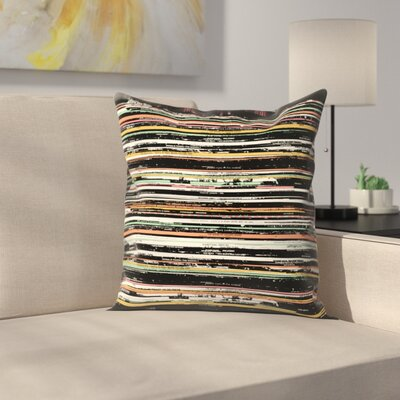 Florent Bodart Records Throw Pillow Size: 16 x� 16