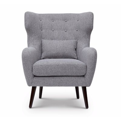 Grabowski Mid Century/Modern Wingback Chair Upholstery: Gray