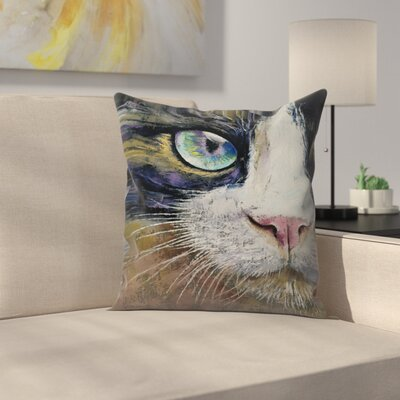 Michael Creese Snowshoe Cat Throw Pillow Size: 16 x 16