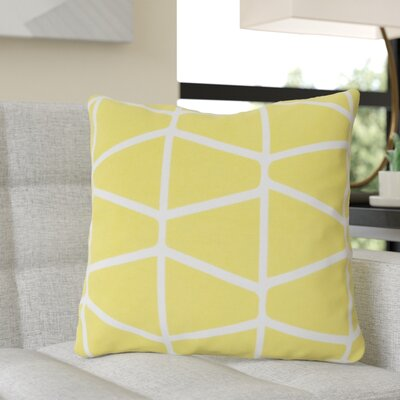 Ochoa Cotton Throw Pillow Size: 20 H x 20 W x 4 D, Color: Lime / Ivory