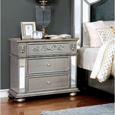 Mcdermott Traditional 3 Drawer Nightstand