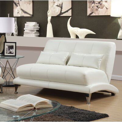 Gutshall Contemporary Loveseat Upholstery: White