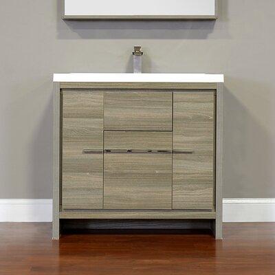 Garett Modern 36 Single Bathroom Vanity Set Base Finish: Gray