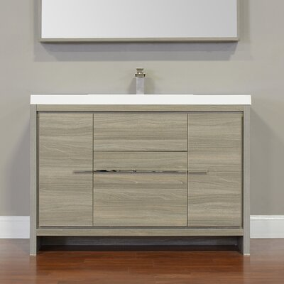 Garett Modern 47 Single Bathroom Vanity Set Base Finish: Gray