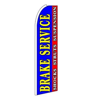 "Brake Service Polyester 11'6""x2'6"" Swooper Flag SW11491"