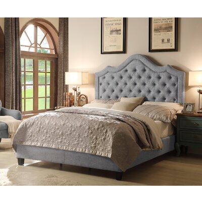 Wick, Somerset Queen Upholstered Panel Bed Color: Dove Gray