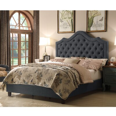 Alisa Queen Upholstered Panel Bed Color: Charcoal