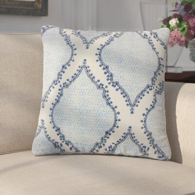 Ilario Ikat Cotton Throw Pillow Color: Blue