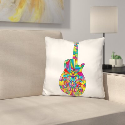 Guitar Butterfly Throw Pillow