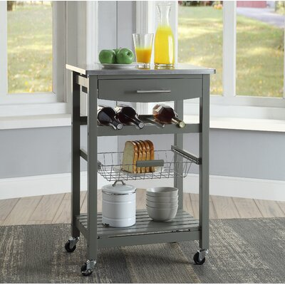 Haviland Kitchen Cart with Stainless Steel Top Base Finish: Gray