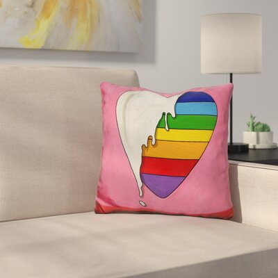 Heart Drip Throw Pillow