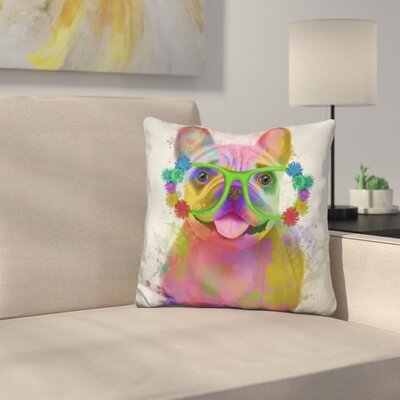 French Bulldog Portrait Throw Pillow