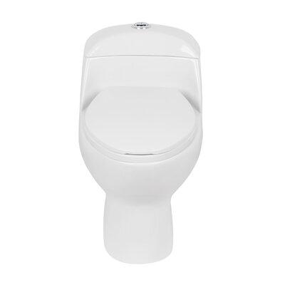Caspian Siphonic Jets Dual Flush Elongated One-Piece Toilet