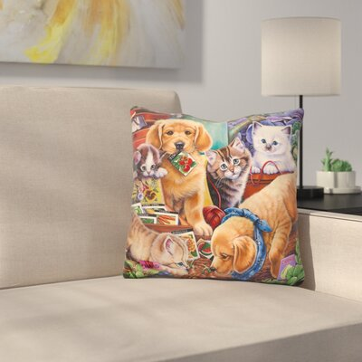 Helpful Garden Paws Throw Pillow